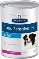 HILL'S Prescription Diet™ d/d™ Canine Duck Диета для собак при пищевой аллергии Утка с рисом 12шт по 370г