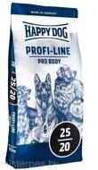 HAPPY DOG PROFI LINE PRO BODY ( для средних и крупных пород собак для набора веса с птицей, лососем и ягненком.)
