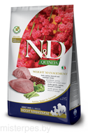 FARMINA N&D DOG QUINOA WEIGHT MANAGEMENT LAMB