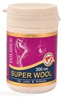 Polidex Super Wool Cats 200 таблеток